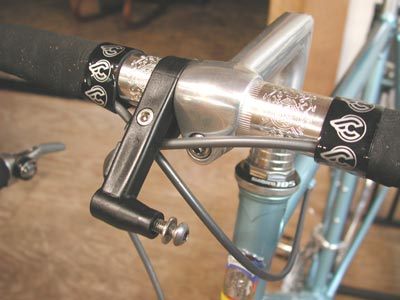 "Bicycle headlight bracket for 1/"" handlebar stem chrome//black"