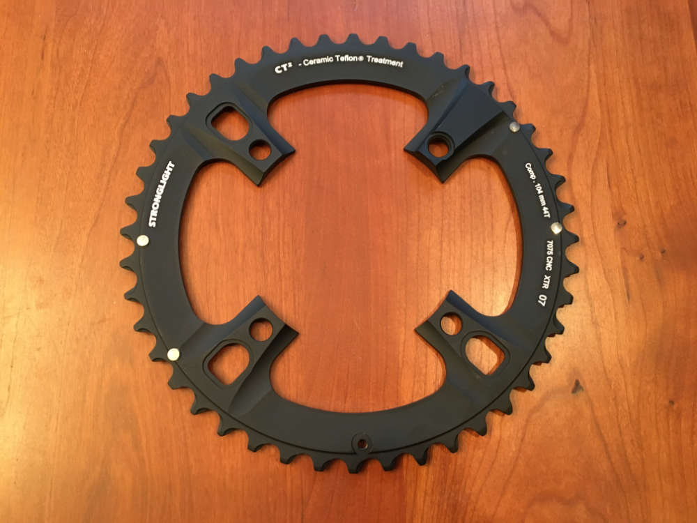 STRONGLIGHT ZIRCAL 7075 ALLOY BLACK 130mm BCD SHIMANO CHAINRING   46T OUTER